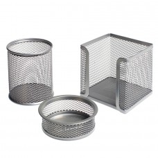 Bigpoint Metal Perfore 3'lü Set Silver